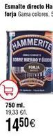 Oferta de Esmaltes hammerite por 14,6€