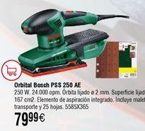 Oferta de Lijadora orbital BOSCH PSS AE+25 hojas por 79,99€