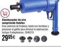 Oferta de Desatascador neumático HABITEX de aire comprimido por 29,95€