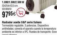 Oferta de Radiador de aceite S&P serie Sahara por 97,95€
