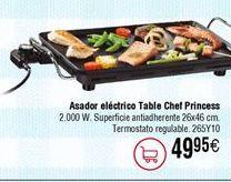 Oferta de Plancha asar PRINCESS table chef 102300 por 49,95€