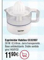 Oferta de Exprimidor HABITEX CC3205T 30W por 11,9€
