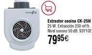 Oferta de Extractor de cocina S&P CK-25N 250m3/h por 79,95€