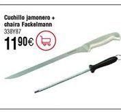 Oferta de Set FACKELMAN cuchillo jamonero y chaira por 11,9€