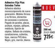 Oferta de Adhesivo Fija Plus QUIADSA Turbo por 7,25€