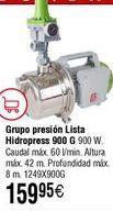 Oferta de Grupo presión LISTA hidropress 900 G por 159,95€