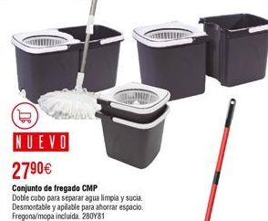 Oferta de Conjunto de fregar CMP doble cubo por 27,9€