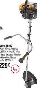 Oferta de Desbrozadora de gasolina ALPINA TB420D por 229€