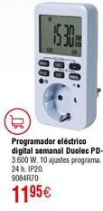 Oferta de Programador eléctrico digital DUOLEC semanal PD-2 por 11,95€