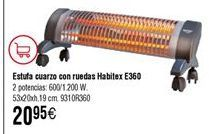 Oferta de Estufa de cuarzo Habitex por 20,95€