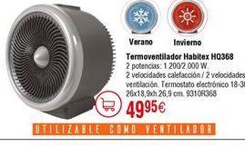 Oferta de Termoventilador Habitex por 49,95€