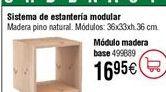 Oferta de Sistema de estantería modular: Módulo cuadrado por 16,95€