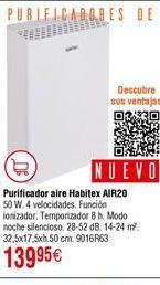 Oferta de Purificador de aire Habitex por 139,95€