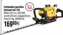 Oferta de Cortasetos gasolina GARLAND Set 752 G por 169,9€