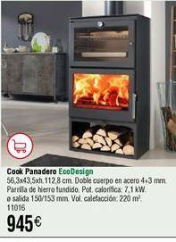 Oferta de Estufas Cook panadero Ecodesign  por 945€