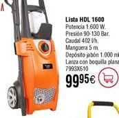 Oferta de Hidrolimpiadora LISTA HDL 1600 por 99,95€