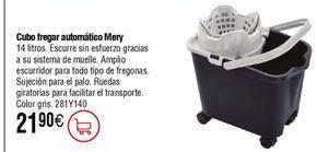 Oferta de Cubo fregar automático MERY por 21,9€
