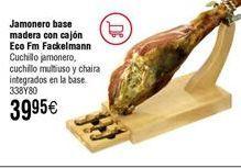 Oferta de Jamonero FACKELMANN modelo Eco Fm de madera por 39,95€