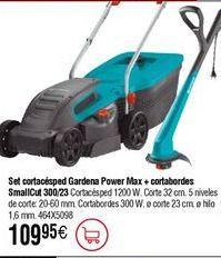Oferta de Kit cortacésped GARDENA Power Max + cortabordes SmallCut 300/23 por 109,95€