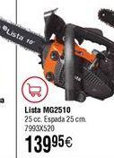 Oferta de Motosierra de gasolina LISTA MG2510 por 139,95€