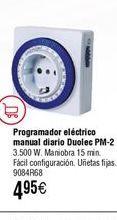 Oferta de Programador eléctrico manual DUOLEC PM-2 por 4,95€