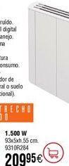 Oferta de Emisor térmico FÁCULA serie S ultraslim 1500W por 209,95€