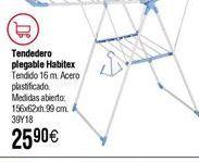 Oferta de Tendedero HABITEX plegable Sisi acero plastificado por 25,9€