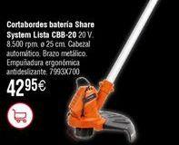 Oferta de Cortabordes a batería Share System LISTA CBB-20 por 42,95€