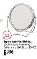 Oferta de Espejo cosmética HABITEX por 6,9€