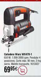 Oferta de Sierra caladora WORX WX478 por 69,95€