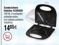Oferta de Sandwichera HABITEX CC5502B 700 W por 14,95€