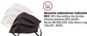 Oferta de Mascarilla antibacteriana protección MSV reutilizable negra por