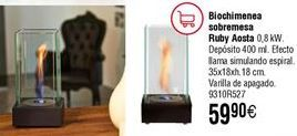 Oferta de Biochimenea de mesa Ruby Aosta  por 59,9€