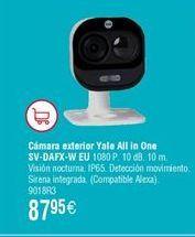 Oferta de Cámara exterior All in One YALE SV-DAFX-W EU por 87,95€