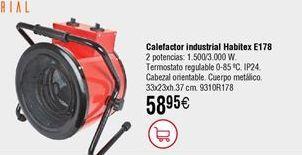 Oferta de Calefactor industrial Habitex por 58,95€