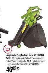 Oferta de Aspirador/soplador/triturador LISTA AST3000 por 46,95€