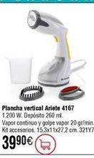 Oferta de Plancha vapor vertical ARIETE 4167 por 39,9€