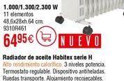 Oferta de Radiador de aceite Habitex por 64,95€