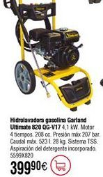 Oferta de Hidrolavadora gasolina GARLAND Ultimate 820 por 399,9€