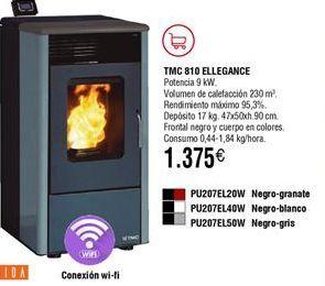Oferta de Estufas pellet TMC 810 ELEGANCE  por 1375€