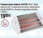 Oferta de Tostador HABITEX plano CC4700 por 19,9€