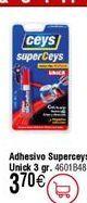 Oferta de Adhesivo instantáneo CEYS Superunick poder invisible, 3gr por 3,7€