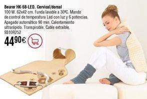 Oferta de Almohadilla térmica cervical/dorsal BEURER HK-58-LED por 44,9€