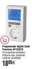 Oferta de Programador digital COATI Premium AF132075 por