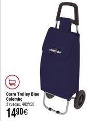 Oferta de Carro compra COLOMBO Rolly Blue por 14,9€