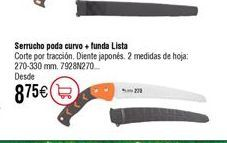 Oferta de Serrucho poda curvo LISTA 7928 por 8,75€