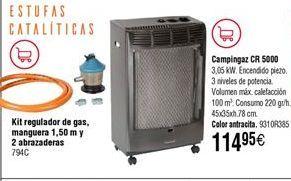 Oferta de Estufa de gas campingaz por 114,95€