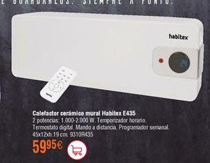 Oferta de Calefactor cerámico mural Habitex por 59,95€