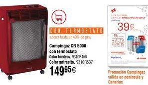 Oferta de Estufa de gas campingaz por 149,95€