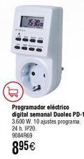 Oferta de Programador eléctrico digital DUOLEC semanal PD-1 por 8,95€